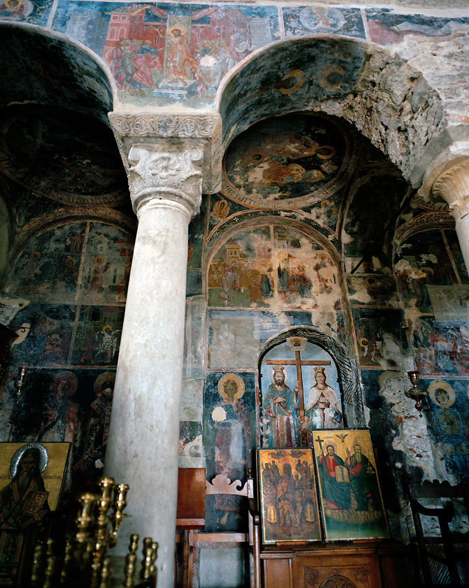 Byzantine church in Mystras, Greece