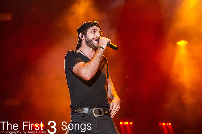 Brantley Gilbert performs with Thomas Rhett at LP Field during Day One of the 2014 CMA Music Festival in Nashville, Tennessee.
