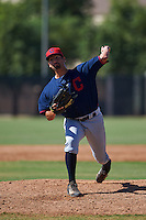 Cleveland Indians pitcher Ryan Perez (65) during an instructional league game against the Milwaukee Brewers on October 8, 2015 at the Maryvale Baseball Complex in Maryvale, Arizona.  (Mike Janes/Four Seam Images)