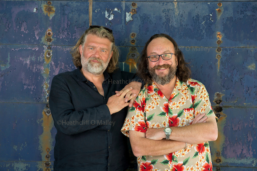 May0071583 . Daily Telegraph<br /> <br /> DT Weekend <br /> <br /> Hairy Bikes Si King and Dave Myers on location .<br /> <br /> 20 July 2016