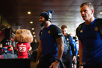 Kahn Fotuali'i and the rest of the Bath Rugby team arrive at the Stade Ernest Wallon. Heineken Champions Cup match, between Stade Toulousain and Bath Rugby on January 20, 2019 at the Stade Ernest Wallon in Toulouse, France. Photo by: Patrick Khachfe / Onside Images