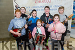 Robert Stack, Katie Joyce, Ava Joyce, Dylan Carroll, Joseph Finch, Danny Finch, Michael Whelan from Ballybunion Comhaltas at the kerry Comhaltas Sult na nOg music competition at the IT Tralee on Saturday