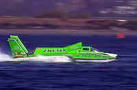 The U-100, Znetix, driver Gregg Hopp..Hydros-PROP Bayfair,San Diego,CA,USA 9.17.2000.©F.Peirce Williams 2000..