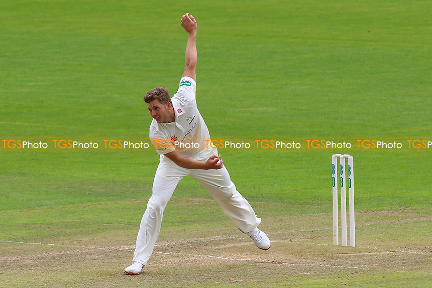 Craig Meschede in bowling action for Glamorgan during Glamorgan CCC vs Essex CCC, Specsavers County Championship Division 2 Cricket at the SSE SWALEC Stadium on 23rd May 2016
