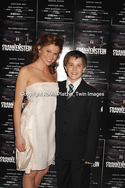 "Mandy Bruno and costar Struen Erlenborn..at The Opening night of the new Off-Broadway Musical ""Frankenstein""  on November 1, 2007 at The 37 Arts Theatre and at the party at Studio 450. Mandy Bruno of Guiding Light is one of the stars of the show. ....Robin Platzer, Twin Images..212-935-0770"