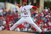 March 20, 2010:  Relief Pitcher Jason Motte (60) of the St. Louis Cardinals during a Spring Training game at the Roger Dean Stadium Complex in Jupiter, FL.  Photo By Mike Janes/Four Seam Images