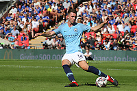 Aymeric Laporte of Manchester City in action during Chelsea vs Manchester City, FA Community Shield Football at Wembley Stadium on 5th August 2018
