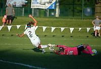 Kansas City, MO - Sunday September 04, 2016: Shea Groom, Erica Skroski during a regular season National Women's Soccer League (NWSL) match between FC Kansas City and the Sky Blue FC at Swope Soccer Village.