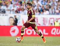 Foxborough, MA - Saturday June 18, 2016: Tomas Rincon during a Copa America Centenario quarterfinal match between Argentina (ARG) and Venezuela (VEN)  at Gillette Stadium.