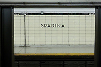 The Spadina subway station is pictured in Toronto April 24, 2010. The Toronto subway and RT system is a rapid transit system in Toronto, Ontario, Canada, consisting of both underground and elevated railway lines, operated by the Toronto Transit Commission (TTC).
