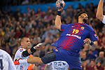 VELUX EHF 2017/18 EHF Men's Champions League Last 16.<br /> FC Barcelona Lassa vs Montpellier HB: 30-28.<br /> Timothey N'Guessan.