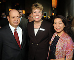 From left: Luis and Kelly Zuniga with Nancy Li at the Holocaust Museum Houston's Guardian of the Human Spirit Luncheon at the Hilton Americas Hotel Monday Nov.18, 2013. (Dave Rossman photo)