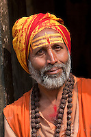 Pashupatinath Temple, Nepal.  Sadhu, a Hindu Ascetic or Holy Man.