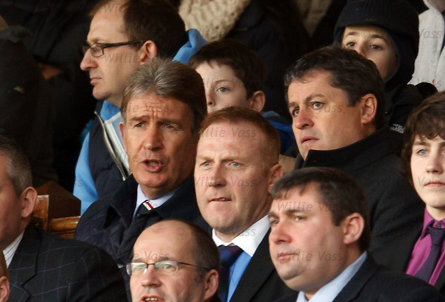 Administrator David Whitehouse watches with Sandy Jardine