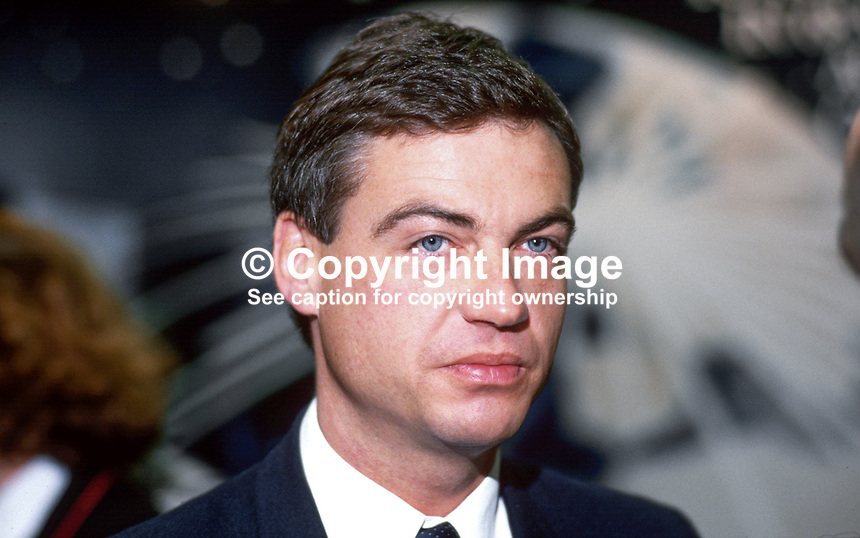 David Burnside, director, public affairs, British Airways, UK, 19871044DB.<br />