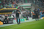 06.10.2019, Borussia Park , Moenchengladbach, GER, 1. FBL,  Borussia Moenchengladbach vs. FC Augsburg,<br />  <br /> DFL regulations prohibit any use of photographs as image sequences and/or quasi-video<br /> <br /> im Bild / picture shows: <br /> Martin Schmidt Cheftrainer / Headcoach (FC Augsburg),  sauer <br /> <br /> Foto © nordphoto / Meuter