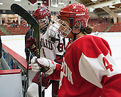 Hillary Crowe (Harvard - 8), Sarah Steele (BU - 4) - The Harvard University Crimson defeated the visiting Boston University Terriers 3-1 on Friday, November 22, 2013, at Bright-Landry Hockey Center in Cambridge, Massachusetts.