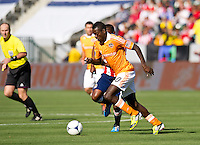 CARSON, CA - March 11, 2012: Houston Dynamo midfielder Je-Vaughn Watson (10) during the Chivas USA vs Houston Dynamo match at the Home Depot Center in Carson, California. Final score Houston Dynamo 1, Chivas USA 0.