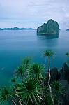 Parc naturel d'El Nido au nord ouest de l'île de Palawan célèbres pour ses falaises de calcaires et ses fonds sous marins. Philippines.