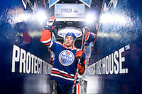 EDMONTON, CANADA - OCTOBER 23:  Edmonton Oilers left wing Taylor Hall #4 leaves the ice after warm-up before a game against the San Jose Sharks at Rexall Place on October 23, 2010 in Edmonton, Alberta, Canada.  (Photo by Andy Devlin/NHLI via Getty Images) *** LOCAL CAPTION *** Taylor Hall