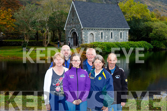 L-R Margaret Shanahan, Alan O' Halloran, Sarah&Brendan Shanahan with Aine&Donal Doyle enjoying the fabulous views at the lunch halt at Gougane Barra during the Kingdom Vintage, Veteran and Classic Car Club's Autumn run last Saturday.