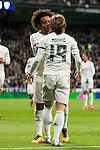 Real Madrid's Luka Modric and Marcelo Vieira during La Liga match. March 20,2016. (ALTERPHOTOS/Borja B.Hojas)