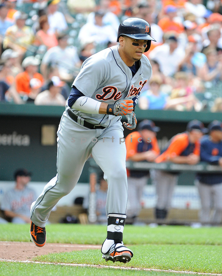 Detroit Tigers Victor Martinez (41) during a game against the Baltimore Orioles on June 2, 2013 at Oriole Park in Baltimore, MD. The Orioles beat the Tigers 4-2.