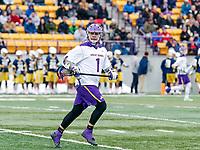 University at Albany Men's Lacrosse defeats Drexel 18-5 on Feb. 24 at Casey Stadium.  Tehoka Nanticoke (#1). (Photo by Bruce Dudek / Cal Sport Media/Eclipse Sportswire)