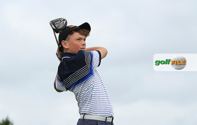 Ben Hynes on the 18th tee during R1 of the 2016 Connacht U18 Boys Open, played at Galway Golf Club, Galway, Galway, Ireland. 05/07/2016. <br /> Picture: Thos Caffrey | Golffile<br /> <br /> All photos usage must carry mandatory copyright credit   (&copy; Golffile | Thos Caffrey)