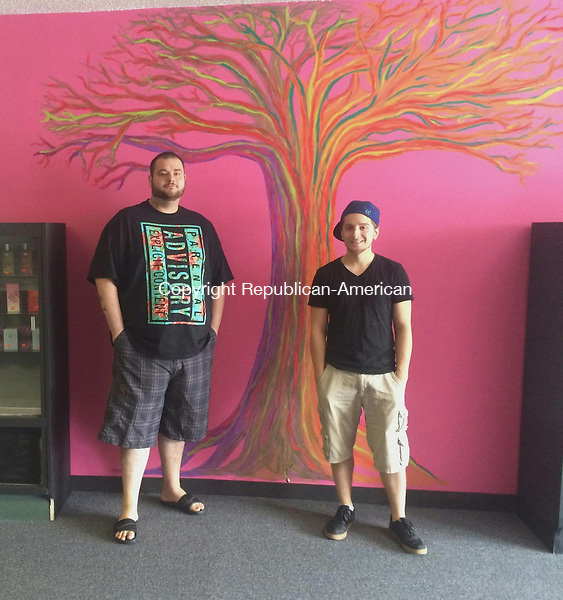 TORRINGTON, CT - 08 July 2015 - 070815CH5 -- Owners Joshua Veilleux and Dylan Stewart opened their store, VS, in hopes of offering trending fashion to Torrington residents. The best friends have been raising funds to open their business for six years. Carrie Grace Henderson Republican-American