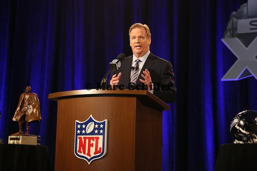 Commissioner Roger Goodell - NFL Pressekonferenz, Super Bowl XLIX, Convention Center Phoenix