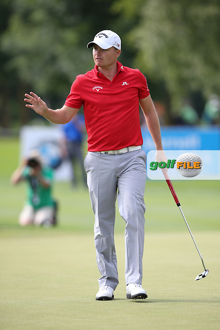 Birdie on 15 for James Morrison (ENG) during Round Three of the 2015 BMW International Open at Golfclub Munchen Eichenried, Eichenried, Munich, Germany. 27/06/2015. Picture David Lloyd | www.golffile.ie