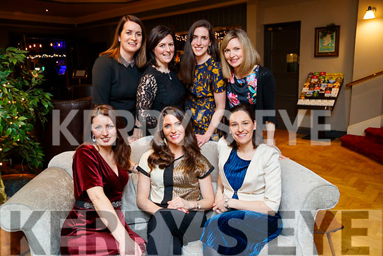 Enjoying Women's Christmas at the Ashe Hotel, Tralee, on Saturday night were front l-r: Carmel Spring, Fiona Costello and Fiona Spring. Back l-r: Julie O'Sullivan, Emma Colivet, Mary Barrett and Jenny Higgins.