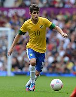 Olympia 2012 London  Fussball  Maenner   29.07.2012 Brasilien - Weissrussland OSCAR (Brasilien)