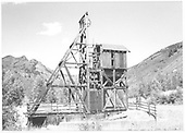 North side view of the Atlantic Cable Mine head frame.<br /> RGS  Rico, CO