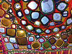 RARE ANTIQUE WALL PANELS (PAIR) WITH GOLDEN MIRRORS. GYPSY TRIBE, KUTCH, GUJARAT, INDIA