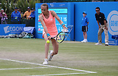 June 16th 2017, Nottingham, England; WTA Aegon Nottingham Open Tennis Tournament day 5;  Backhand from Magdalena Rybarikova of The Slovak Republic as she defeated Kristie Ahn of USA in the quarter final