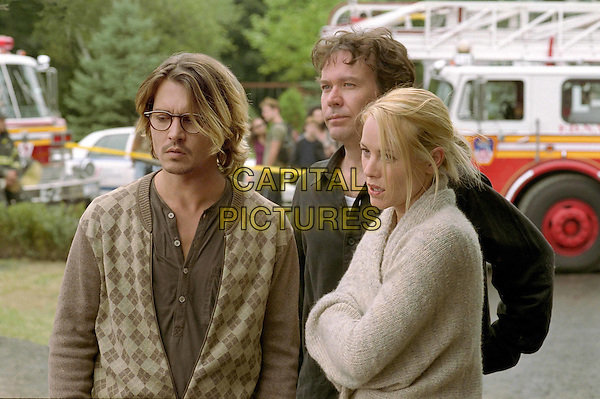 JOHNNY DEPP, TIMOTHY HUTTON & MARIA BELLO.in Scecret Window.Filmstill - Editorial Use Only.Ref: FB.www.capitalpictures.com.sales@capitalpictures.com.Supplied by Capital Pictures