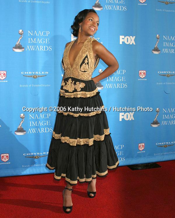 Kerry Washington.37th NAACP Image Awards.Shrine Auditorium.Los Angeles, CA.February 25, 2006.©2006 Kathy Hutchins / Hutchins Photo....                 V