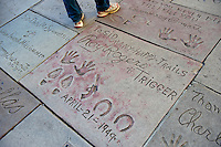 Grauman's, Chinese, Theatre, Roy Rogers, Trigger,  Stars, Hand - Footprint, Impressions, Hollywood, Boulevard CA