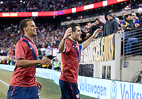 Carlos Bocanegra, Timothy Chandler. The USMNT tied Argentina, 1-1, at the New Meadowlands Stadium in East Rutherford, NJ.
