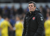 Fleetwood Town manager Joey Barton <br /> <br /> Photographer Kevin Barnes/CameraSport<br /> <br /> The EFL Sky Bet League One - Bristol Rovers v Fleetwood Town - Saturday 22nd December 2018 - Memorial Stadium - Bristol<br /> <br /> World Copyright &copy; 2018 CameraSport. All rights reserved. 43 Linden Ave. Countesthorpe. Leicester. England. LE8 5PG - Tel: +44 (0) 116 277 4147 - admin@camerasport.com - www.camerasport.com