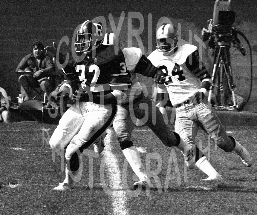 Sylvester McGee Ottawa Rough Riders 1976. Photo F. Scott Grant