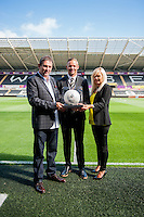 Matchball Sponsors ahead of the  Premier League match between Swansea City and Everton played at the Liberty Stadium, Swansea  on September 19th 2015