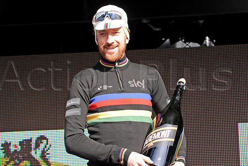 02.04.2015, Flanders, Belgium. Cycling Three Days of De Panne Stage 3.  Bradley Wiggins, winner of the stage 3 time trials