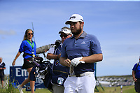 Tyrrell Hatton (ENG) walks off the 15th tee during Thursday's Round 1 of the Dubai Duty Free Irish Open 2019, held at Lahinch Golf Club, Lahinch, Ireland. 4th July 2019.<br /> Picture: Eoin Clarke | Golffile<br /> <br /> <br /> All photos usage must carry mandatory copyright credit (© Golffile | Eoin Clarke)