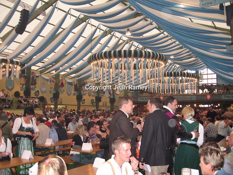 Beer hall at Oktoberfest