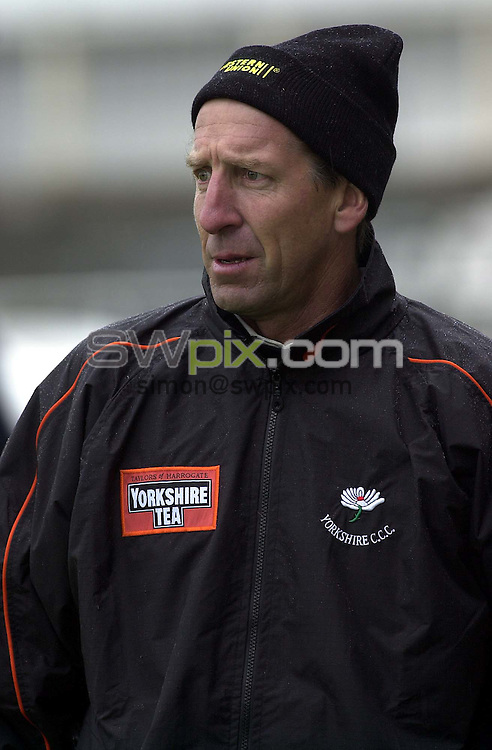 Pix:Ben Duffy/SWpix...Wayne Clark-Yorkshire Cricket Club....05/04/2001..COPYRIGHT PICTURE>>SIMON WILKINSON..Yorkshire Cricket Clubs new coach, Australian Wayne Calrk, pictured at Headingley,Leeds.