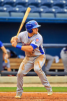Tennessee Smokies outfielder Mark Zagunis (5) at bat during a game against the Biloxi Shuckers at MGM Park on May 2, 2016 in Biloxi, Mississippi. (Derick E. Hingle/Four Seams Images)