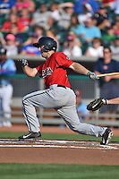 Birmingham Barons designated hitter Michael Earley #11 swings at a pitch during a game against the Tennessee Smokies at Smokies Park on May 31, 2014 in , Tennessee. The Barons defeated the Smokies 2-1. (Tony Farlow/Four Seam Images)